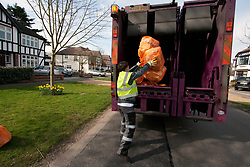 Refuse collection, London Borough of Havering, UK