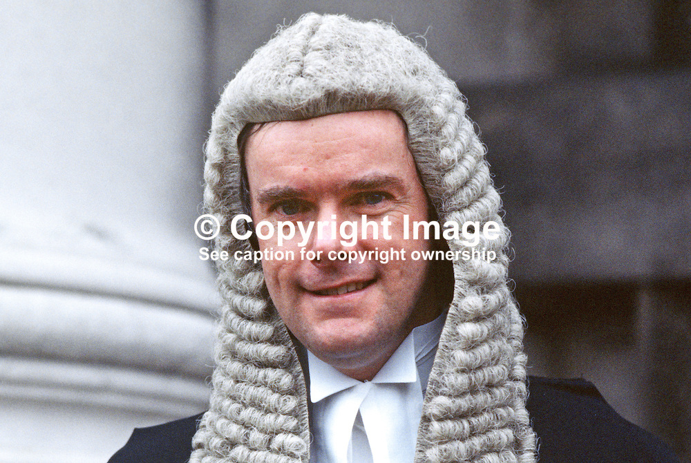 Terence Mooney, QC, barrister, N Ireland, UK, 19850003TM.<br /> <br /> Copyright Image from Victor Patterson, Belfast, UK<br /> <br /> t: +44 28 9066 1296 (from Rep of Ireland 048 9066 1296)<br /> m: +44 7802 353836<br /> e: victorpattersonbelfast@gmail.com<br /> <br /> www.images4media.com<br /> <br /> Please see my full Terms and Conditions of Use at https://www.images4media.com/p/terms-conditions - it is IMPORTANT that you familiarise yourself with them.<br /> <br /> Images used online incur an additional cost. This cost should be agreed in writing in advance. Online images must be visibly watermarked i.e. © Victor Patterson or that of the named photographer within the body of the image. The original metadata must not be deleted from images used online.<br /> <br /> This image is only available for the use of the download recipient i.e. television station, newspaper, magazine, book publisher, etc, and must not be passed on to a third party. It is also downloaded on condition that each and every usage is notified within 7 days to victorpattersonbelfast@gmail.com.<br /> <br /> The right of Victor Patterson (or the named photographer) to be identified as the author is asserted in accordance with The Copyright Designs And Patents Act (1988). All moral rights are asserted.