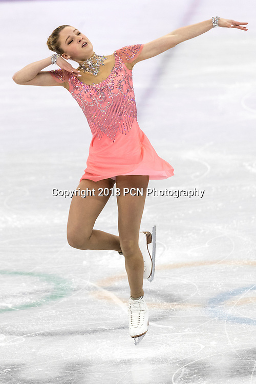 Maria Sotskova (OAR) competing in the Figure Skating - Ladies' Short at the Olympic Winter Games PyeongChang 2018 >