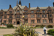 The Council House in the UK City of Culture 2021 on 23rd June 2021 in Coventry, United Kingdom. The Council House, Coventry is a Tudor Revival style civic building which acts as the meeting place of Coventry City Council and was built in the early 20th century. It is a Grade II-listed building. The UK City of Culture is a designation given to a city in the United Kingdom for a period of one year. The aim of the initiative, which is administered by the Department for Digital, Culture, Media and Sport. Coventry is a city which is under a large scale and current regeneration.