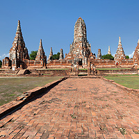 Buddhist temple comples Wat Chai Watthanaram in Ayutthaya.