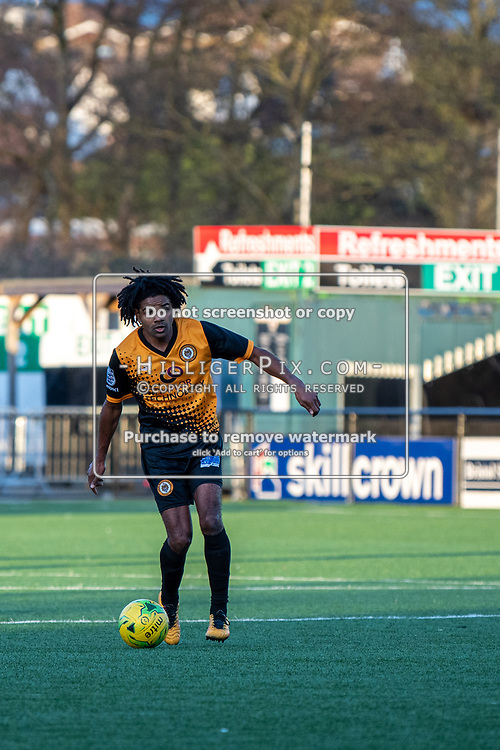 BROMLEY, UK - JANUARY 04: Bradley Pritchard, of Cray Wanderers FC, during the BetVictor Isthmian Premier League match between Cray Wanderers and Wingate & Finchley at Hayes Lane on January 4, 2020 in Bromley, UK. <br /> (Photo: Jon Hilliger)