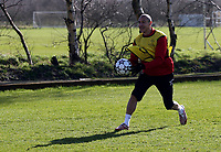 Photo: Paul Thomas.<br />Manchester United training session. UEFA Champions League. 06/03/2007.<br />Man Utd's Henrik Larsson during training.