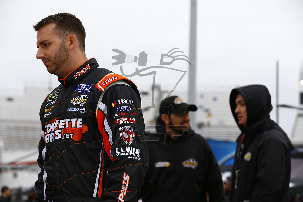 October 29, 2017 - Martinsville, Virginia, USA: Matt DiBendetto (32) hangs out on pit road before qualifying for the First Data 500 at Martinsville Speedway in Martinsville, Virginia.