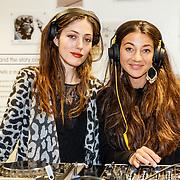 NLD/Amsterdam/20160223 - Opening 1e brandstore Rimowa, Nadia Palesa en vriendin ............