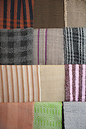 Traditional fabrics for sale in the Caritas center