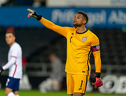SWANSEA, WALES - Thursday, November 12, 2020: USA's goalkeeper Zack Steffen during an International Friendly match between Wales and the USA at the Liberty Stadium. (Pic by David Rawcliffe/Propaganda)
