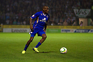 Lloyd Dyer of Leicester City in action during the Skybet Championship match, Yeovil Town v Leicester City at Huish Park Stadium in Yeovil on Tuesday 1st October 2013. Picture by Sophie Elbourn, Andrew Orchard Sports Photography, contact & payments to Andrew Orchard,