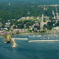 Aerial views Mackinac Island