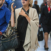 NLD/Schiphol/20140904 - Former Victoria Secret model Estelle Warren arrives in the Netherlands