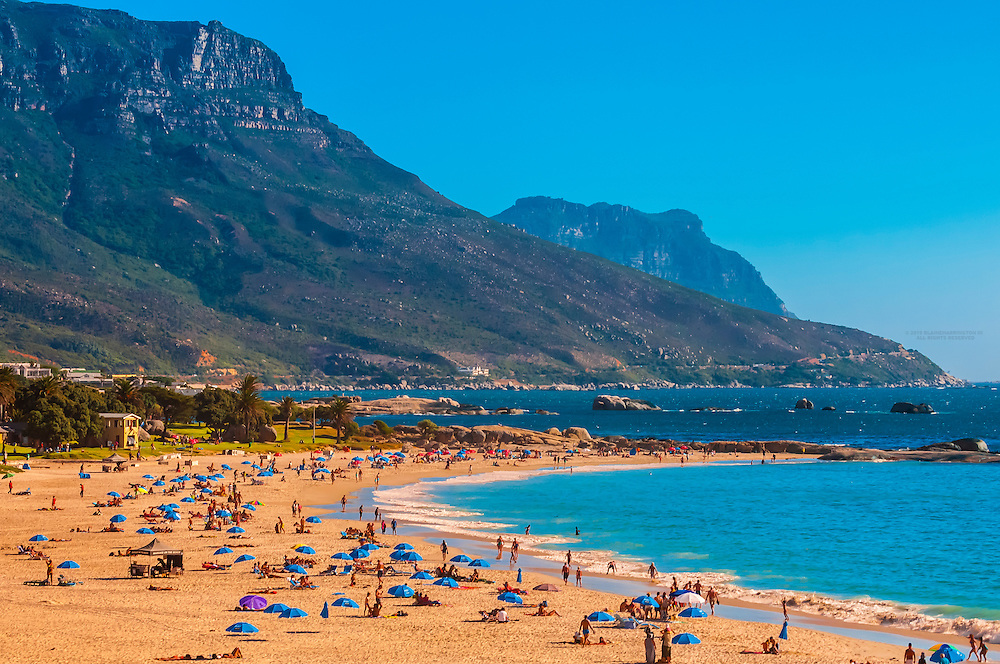 Camps Bay, a beach resort suburb of Cape Town, South Africa
