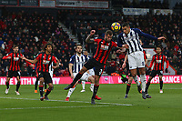 Football - 2017 / 2018 Premier League - AFC Bournemouth vs. West Bromwich Albion<br /> <br /> Jake Livermore of West Bromwich Albion beats Bournemouth's Steve Cook to get a header on goal at Dean Court (Vitality Stadium) Bournemouth <br /> <br /> COLORSPORT/SHAUN BOGGUST