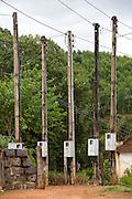 Toledo_MG, Brasil...Postes eletricos em Toledo...Electrics poles in Toledo...Foto: LEO DRUMOND / NITRO....