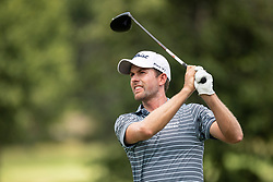 August 5, 2018 - Akron, OH, U.S. - AKRON, OH - AUGUST 05:   Webb Simpson (USA) plays his shot from the sixth tee during the final round of the World Golf Championships - Bridgestone Invitational on August 5, 2018 at the Firestone Country Club South Course in Akron, Ohio. (Photo by Shelley Lipton/Icon Sportswire) (Credit Image: © Shelley Lipton/Icon SMI via ZUMA Press)