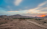 desert scenic at sunset near Petra in Jordan