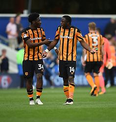 Hull City's Ola Aina (left) and Adama Diomande at full time