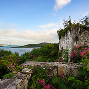 Windy Hill ruin and British Virgin Islands in distance