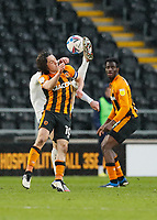 Hull City's George Honeyman battles for possession with Oxford United's Josh Ruffels <br /> <br /> Photographer Lee Parker/CameraSport<br /> <br /> The EFL Sky Bet League One - Hull City v Oxford United - Saturday 13th March 2021 - KCOM Stadium - Kingston upon Hull<br /> <br /> World Copyright © 2021 CameraSport. All rights reserved. 43 Linden Ave. Countesthorpe. Leicester. England. LE8 5PG - Tel: +44 (0) 116 277 4147 - admin@camerasport.com - www.camerasport.com