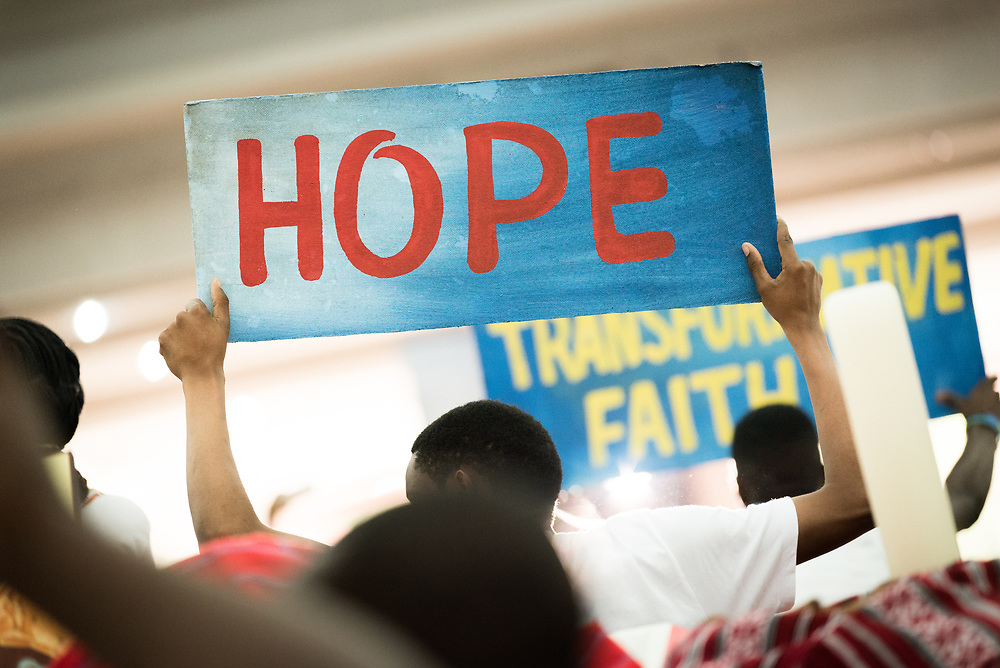 """12 March 2018, Arusha, Tanzania: Missional Formation Plenary. From 8-13 March 2018, the World Council of Churches organizes the Conference on World Mission and Evangelism in Arusha, Tanzania. The conference is themed """"Moving in the Spirit: Called to Transforming Discipleship"""", and is part of a long tradition of similar conferences, organized every decade."""