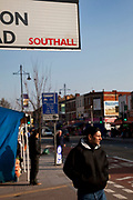 Southall in West London, also known as 'Little India' by some, is an area almost completely populated by people from South Asia. Figures show that the area is approximately 50 percent Indian in origin although walking the streets it would appear far higher as the local people go about their shopping in the many shops specialising in goods specific to this culture. The mix of religions is mainly Sikh, Hindu and Muslim.<br /> <br /> Southall is primarily a South Asian residential district. 1950 was when the first group of South Asians arrived in Southall, reputedly recruited to work in a local factory owned by a former British Indian Army officer. This South Asian population grew due to the closeness of expanding employment opportunities. The most significant cultural group to settle in Southall are Indian Punjabis.