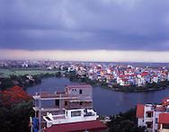 Linhof 6x7 Hanoi © Sébastien Löffler 2008.Tay Ho district seen from Almaz hotel.