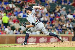 May 7, 2018 - Arlington, TX, U.S. - ARLINGTON, TX - MAY 07: Detroit Tigers relief pitcher Alex Wilson (30) comes in for relief during the game between the Texas Rangers and the Detroit Tigers on May 07, 2018 at Globe Life Park in Arlington, Texas. Texas defeats Detroit 7-6. (Photo by Matthew Pearce/Icon Sportswire) (Credit Image: © Matthew Pearce/Icon SMI via ZUMA Press)