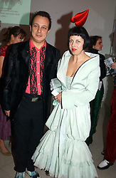 DETMAR & ISABELLA BLOW at the Art Plus Dance Party 2005 - an evening of live dance, film and partying held at the Whitechapel Art Gallery, 80-82 Whitechapel High Street, London on 21st March 2005.<br /><br />NON EXCLUSIVE - WORLD RIGHTS