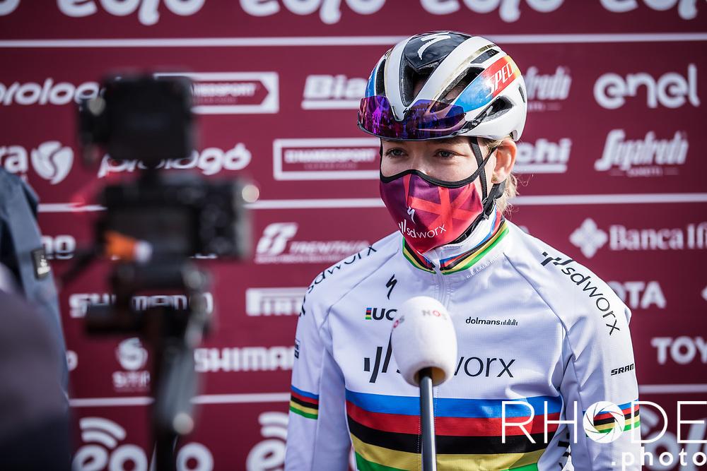 World Champion Anna van der Breggen (NED/SDWorx) pre race NOS  interview<br /> <br /> 7th Strade Bianche Women Elite <br /> Siena > Siena 136km<br /> <br /> ©RhodePhoto