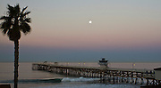 Moon over the San Clemente Pier