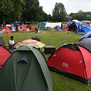 Forty camping tents in Clapham Common are calling on the UK government to repeal the Coronavirus Act