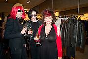 ROGER SPY;; THOMAS GRAND;   KAREN MANU;, Vogue: Fashion's Night Out: Armani. Bond st.  London. 8 September 2010.  -DO NOT ARCHIVE-© Copyright Photograph by Dafydd Jones. 248 Clapham Rd. London SW9 0PZ. Tel 0207 820 0771. www.dafjones.com.
