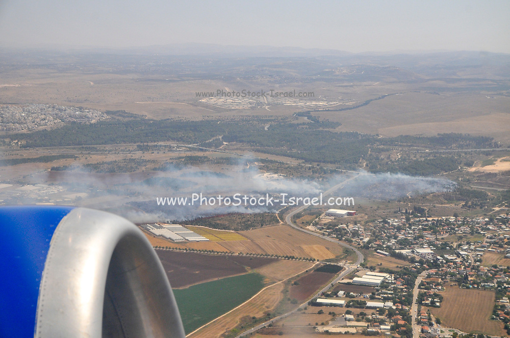 Taking off from Ben-Gurion International Airport, Israel