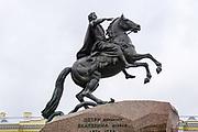 The Bronze Horseman statue of the Russian Czar Peter The Great (1672-1725) in Saint Petersburg, Russia