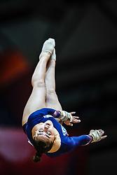 October 28, 2018 - Doha, Quatar - Louise Vanhille of France   during  Vault  qualification at the Aspire Dome in Doha, Qatar, Artistic FIG Gymnastics World Championships on 28 of October 2018. (Credit Image: © Ulrik Pedersen/NurPhoto via ZUMA Press)