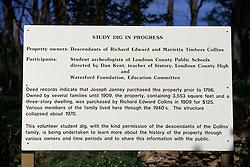 Restoration Site Sign