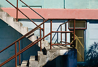 BARACOA, CUBA - CIRCA JANUARY 2020: Stairs in Boca de Yumuri, a village close to Baracoa in Cuba.