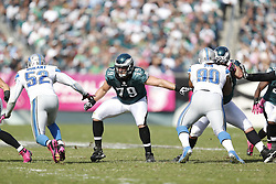 Philadelphia Eagles tackle Todd Herremans (79) during the NFL game between the Detroit Lions and the Philadelphia Eagles on Sunday, October 14th 2012 in Philadelphia. The Lions won 26-23 in Overtime. (Photo by Brian Garfinkel)