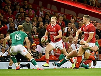 Rugby - 2019 pre-Rugby World Cup warm-up (Under Armour Summer Series) - Wales vs. Ireland<br /> <br /> Scott Williams, of Wales passes the ball out to Owen Lane, of Wales , at Principality (Millennium) Stadium.<br /> <br /> COLORSPORT/WINSTON BYNORTH