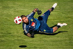 July 4, 2018 - Gelendzhik, Russia - 180704 Goalkeeper Kristoffer Nordfeldt of the Swedish national football team at a practice session during the FIFA World Cup on July 4, 2018 in Gelendzhik..Photo: Petter Arvidson / BILDBYRN / kod PA / 92081 (Credit Image: © Petter Arvidson/Bildbyran via ZUMA Press)
