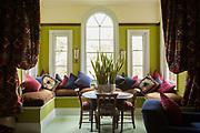 The master bedroom at Vanbrugh Castle, Greenwich, London, UK CREDIT: Vanessa Berberian for The Wall Street Journal. VANBRUGH