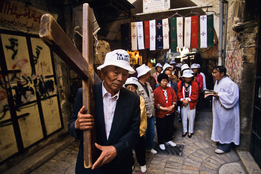 Asian Christians on a visit to the holy city.
