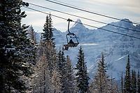 Banff ski trip. Skiing Lake Louise.   ©2019 Karen Bobotas Photographer