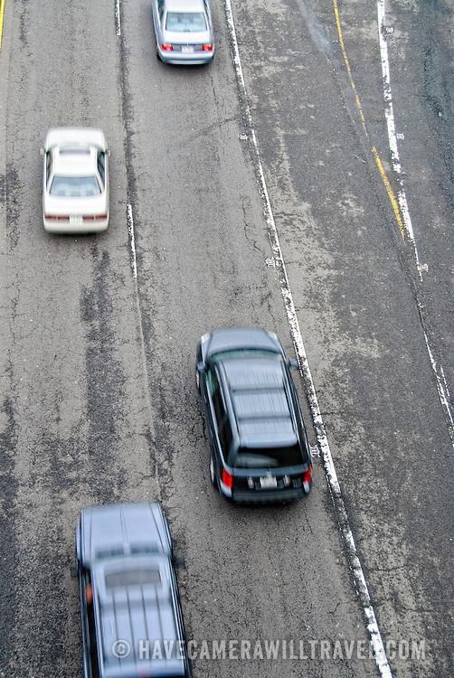 Road with traffic in Arlington, Virginia