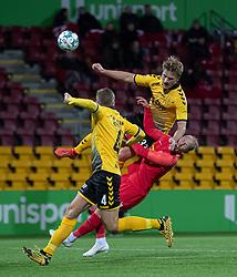 Alexander Ludwig (AC Horsens) og Mikkel Rygaard (FC Nordsjælland) under kampen i 3F Superligaen mellem FC Nordsjælland og AC Horsens den 19. februar 2020 i Right to Dream Park, Farum (Foto: Claus Birch).