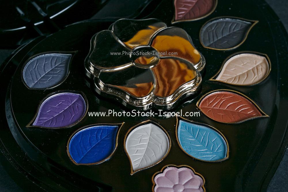 palette of deferent colour make up
