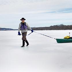 Paddling the Icy Potomac River