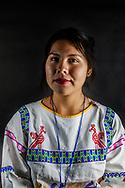 Donna di cultura Huichol, partecipante del CNI.