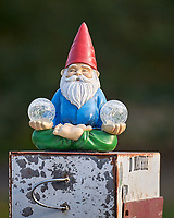 Meditating Troll waiting for the mail. Image taken with a Leica SL2 camera and 90-280 mm lens.
