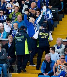 Kill fan thrown out. Kilmarnock 4 v 0 Falkirk, second leg of the Scottish Premiership play-off final.