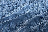 Crevasses and structures on the glacier Grosser Aletschgletscher, Valais, Switzerland